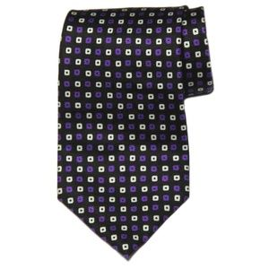 Vintage Ralph Lauren Silk Tie Geometric Men's
